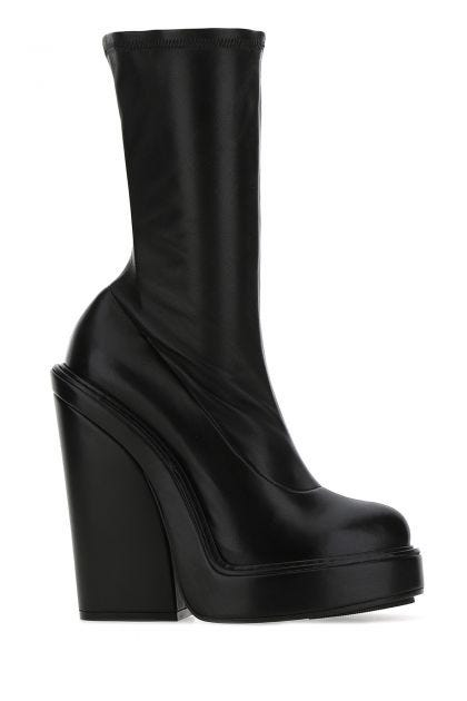 Black nappa leather Look Book boots