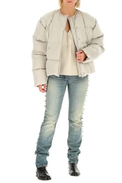 Chalck nylon down jacket
