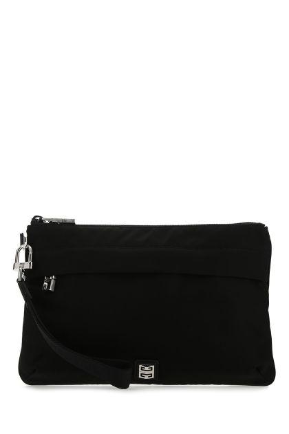 Black nylon blend clutch