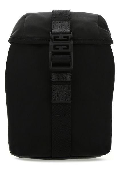 Black nylon blend backpack