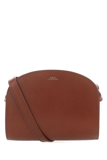 Brown leather mini Demi Lune crossbody bag