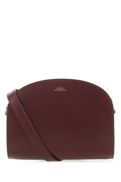 Grape leather mini Demi Lune crossbody bag