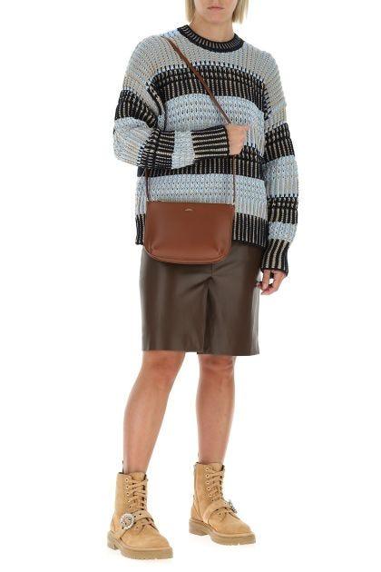 Brown leather Sarah crossbody bag