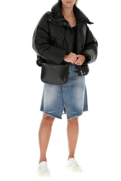 Black leather Sarah crossbody bag