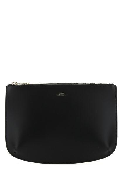 Black leather Sarah pouch