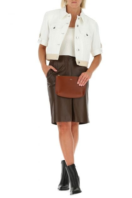 Brown leather Sarah pouch