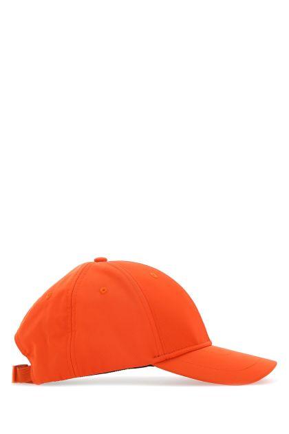 Orange polyester blend baseball cap