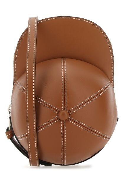 Caramel leather midi Cap Bag crossbody bag