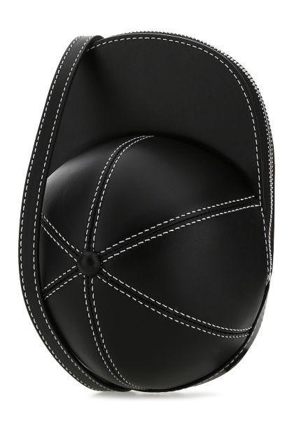 Black leather medium Cap crossbody bag