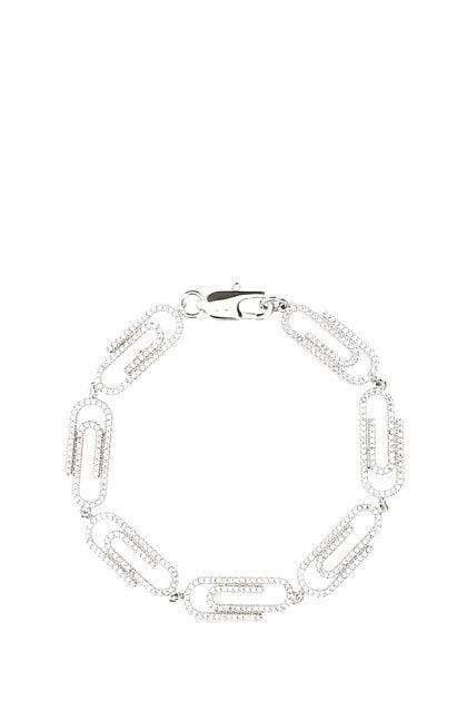 Embellished metal Paperclip bracelet