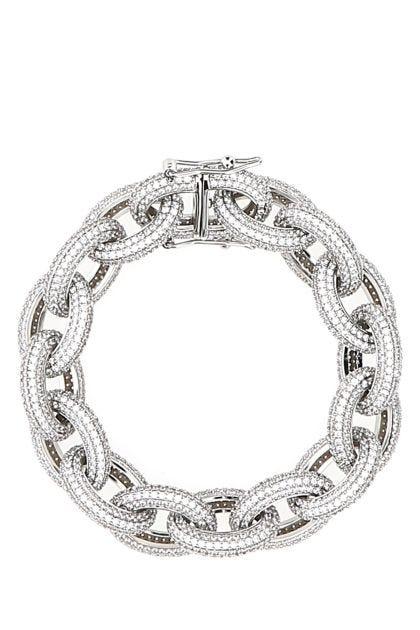 Embellished metal Rolo Pavè bracelet