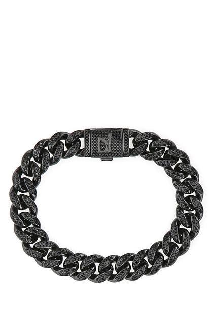 Cuban Pavè Black bracelet