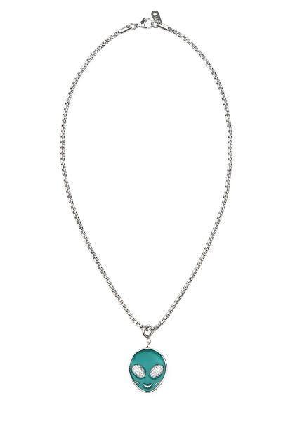 Silver metal necklace