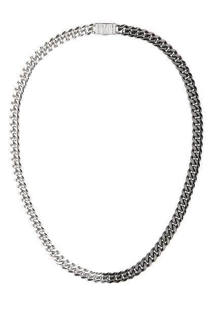 Two-tone Cuban Gun Black necklace