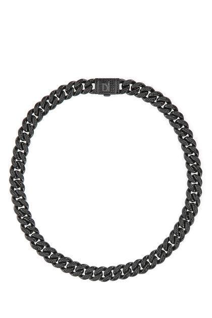 Cuban Pavè Black necklace