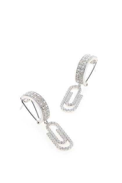 Paperclip pendant earrings