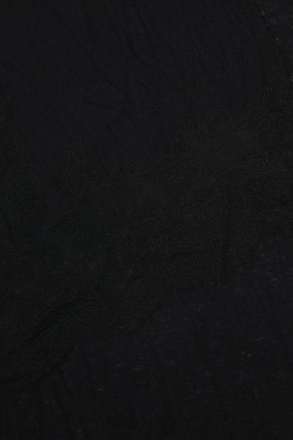 Black cashmere blend foulard