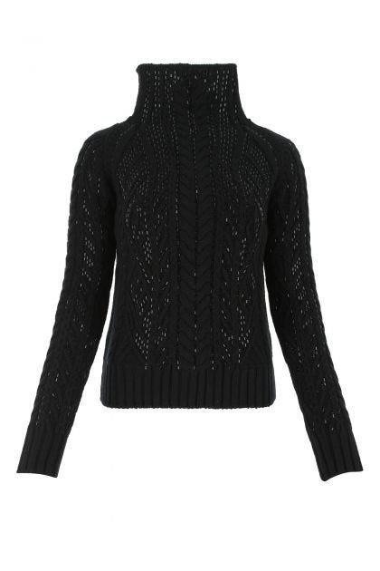 Black acrylic blend sweater