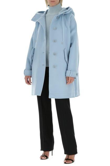 Powder blue acrylic blend oversize cardigan