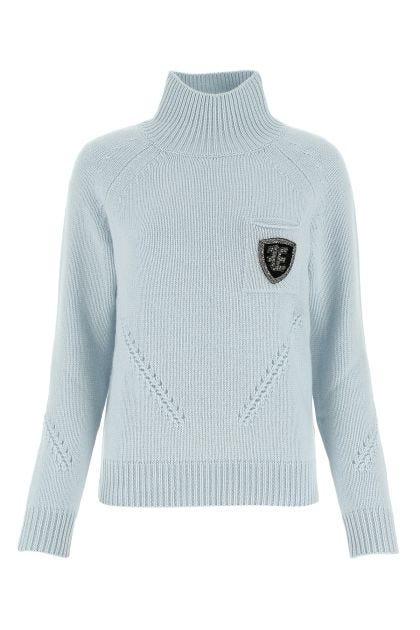 Powder blue wool blend sweater