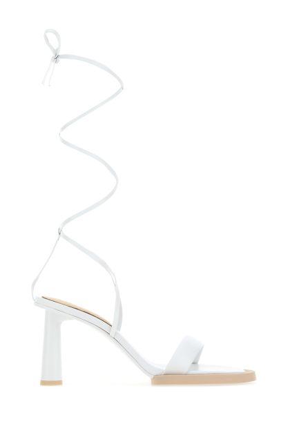 White nappa leather Les Carrè Rond sandals