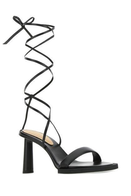 Black leather Les Carrè Rond sandals