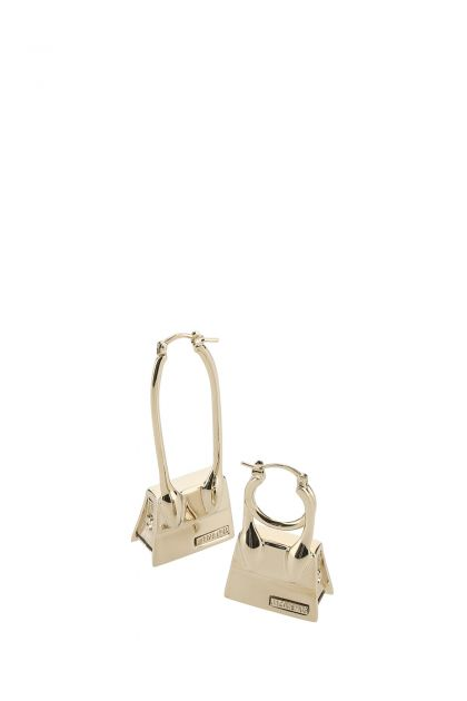 Platinum metal Les Creoles earrings