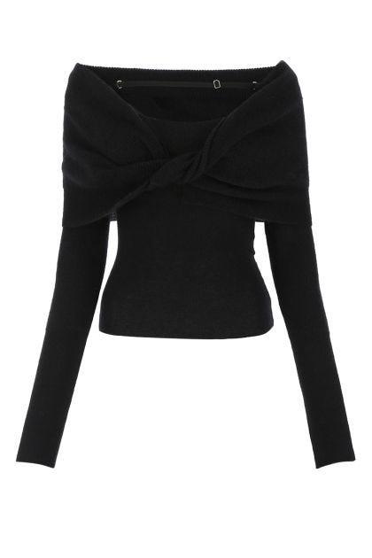 Black mohair blend La Maille Ascua sweater