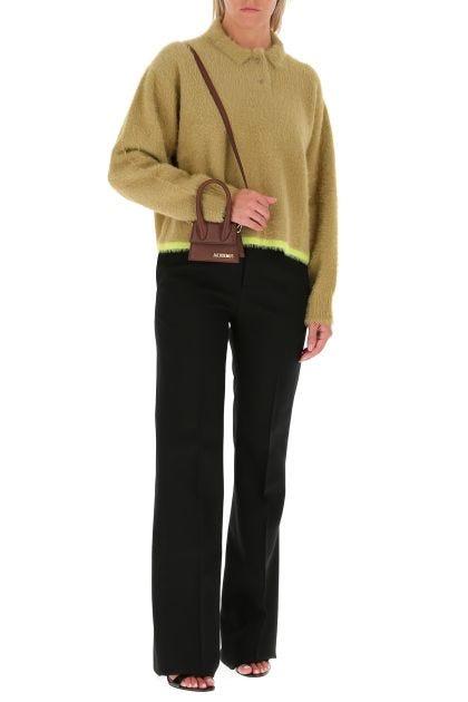 Khaki stretch nylon Le Polo Neve sweater