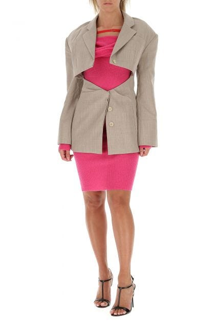 Fuchsia mohair blend La Robe Ascua dress