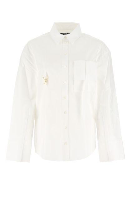 White stretch viscose La Chemise Edolo shirt