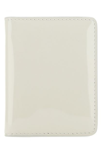 Ivory leather card holder