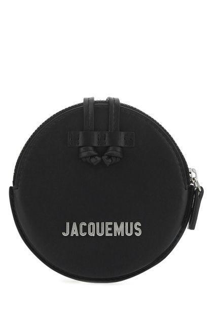 Black leather Le Pitchou coin purse