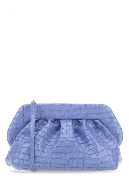 Cerulean synthetic leather Bios clutch