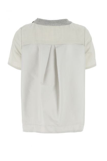 Multicolor light wool and nylon t-shirt