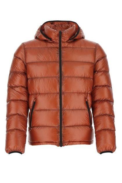 Brick nylon down jacket