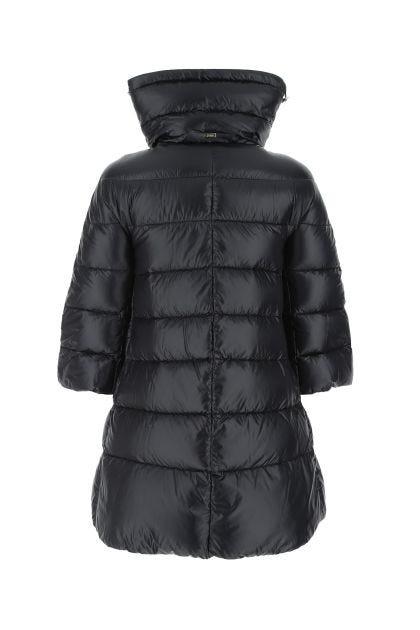 Black nylon Cleofe down jacket