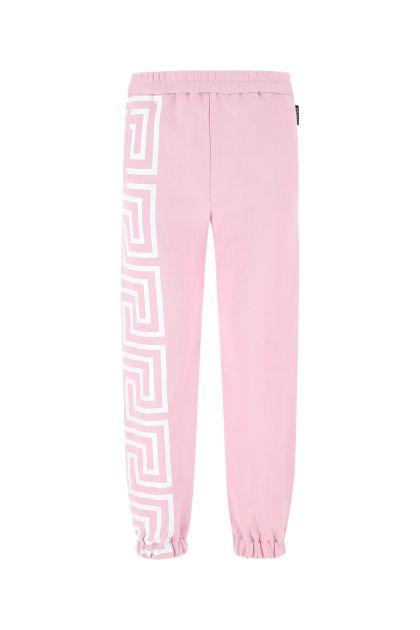 Pink cotton blend joggers