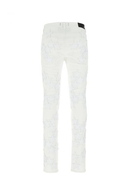 White denim stretch Chemist jeans