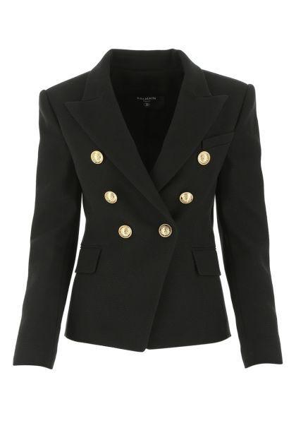 Black piquet blazer