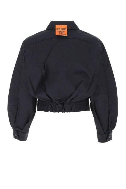Dark blue stretch denim jacket