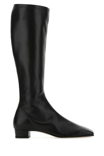 Black nappa leather Edie boots