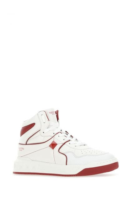 Two-tone leather high-top One Stud sneakers