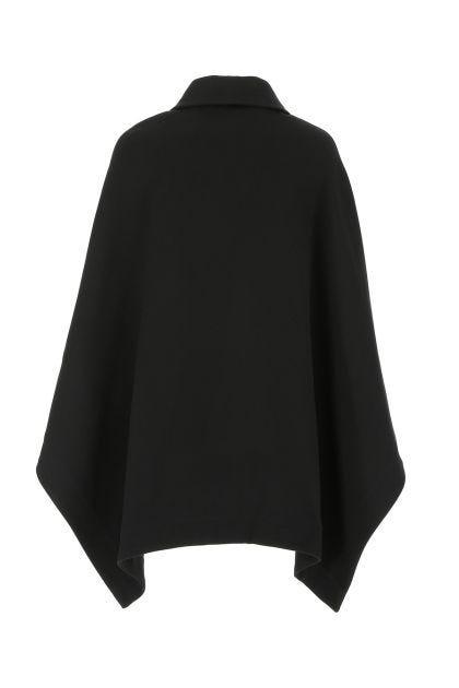 Black cotton blend cape