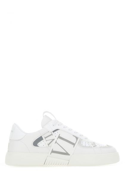 White leather Low-top VL7N sneakers