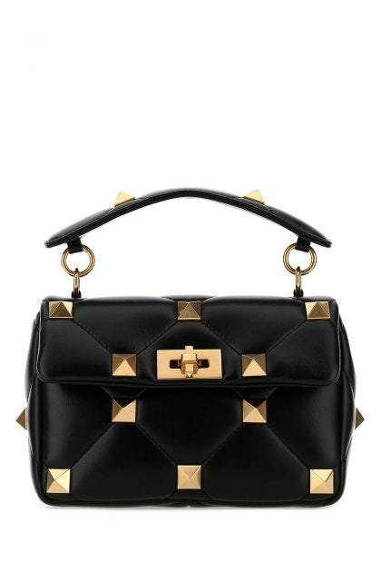 Black nappa medium Roman Stud handbag