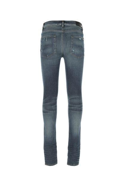 Blue stretch denim Broken jeans