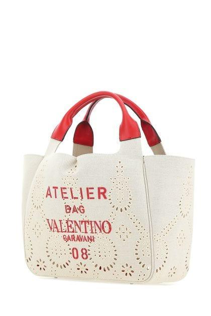 Sand canvas medium Atelier Bag 08 shopping bag