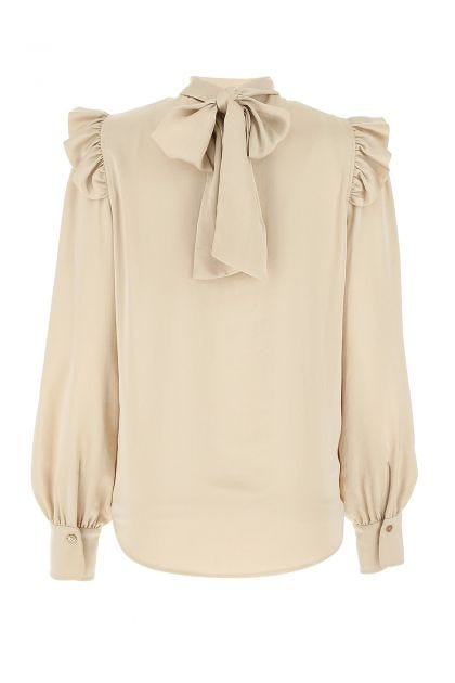 Sand polyester bluse