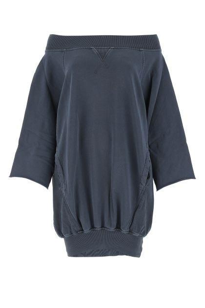 Blue denim cotton oversize sweater dress